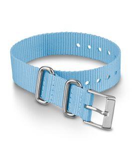 16 mm einlagiges Textil-Zugarmband Blau large