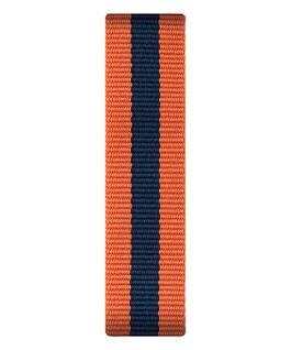 Orange/blaues Nylon-Armband zum Überstreifen  large