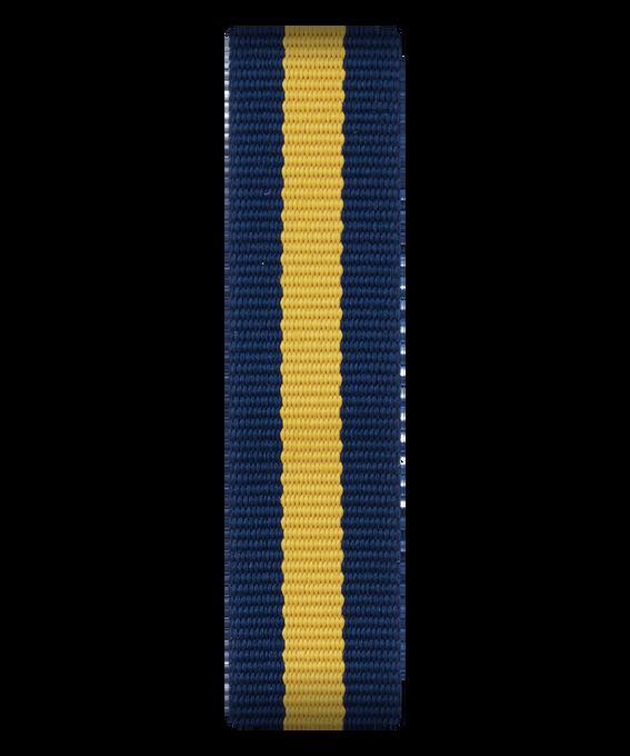 Blau/gelbes Nylon-Armband zum Überstreifen  large