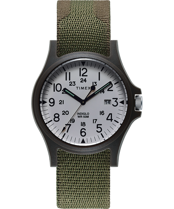 Acadia mit Textilarmband, 40 mm Green large