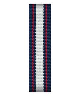 Blau/weiß/rotes Nylon-Armband zum Überstreifen  large