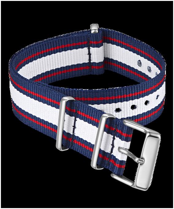 20 mm Zugarmband aus doppellagigem Textil Rot large