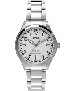Waterbury Traditional 3 Hand 38mm Stainless Steel Watch Stainless-Steel/White large
