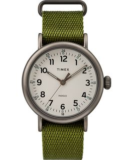 Standard mit Textilarmband, 40mm Schwarz/grün/natur large