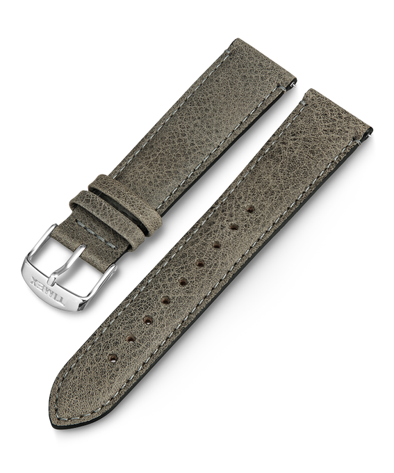 20mm iQ Light Grey Leather Strap Gray large