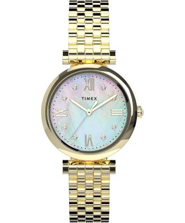 Parisienne 28mm Stainless Steel Bracelet Watch Gold-Tone/Mother-of-Pearl large