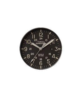 Schwarzes Ziffernblatt/grauer Sekundenzeiger  large