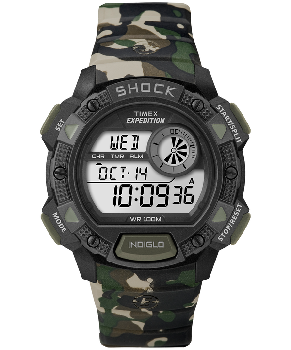 Expedition Base Shock mit Harzarmband, 45 mm Camo large