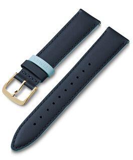 20 mm Lederarmband mit farbiger Schlaufe Blau large