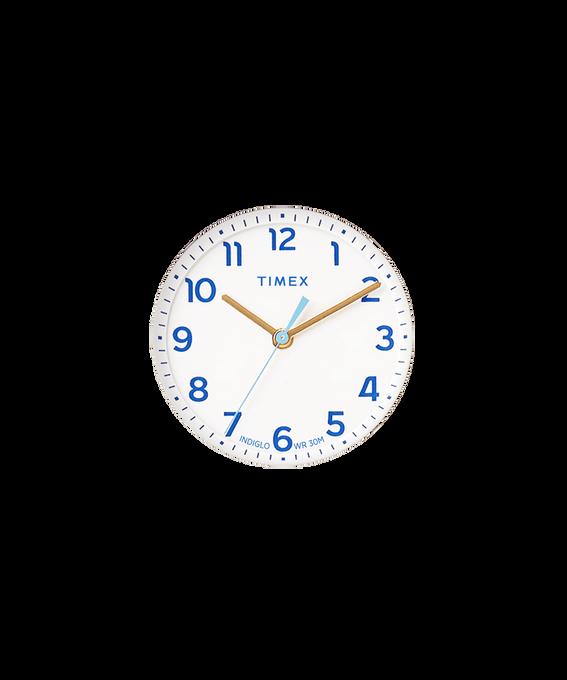 Weißes Ziffernblatt/hellblauer Sekundenzeiger  large