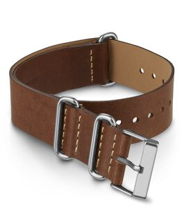 20 mm doppellagiges Leder-Zugarmband Braun large