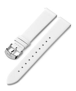 18 mm Lederarmband mit Schnalle in Silberton Weiß large