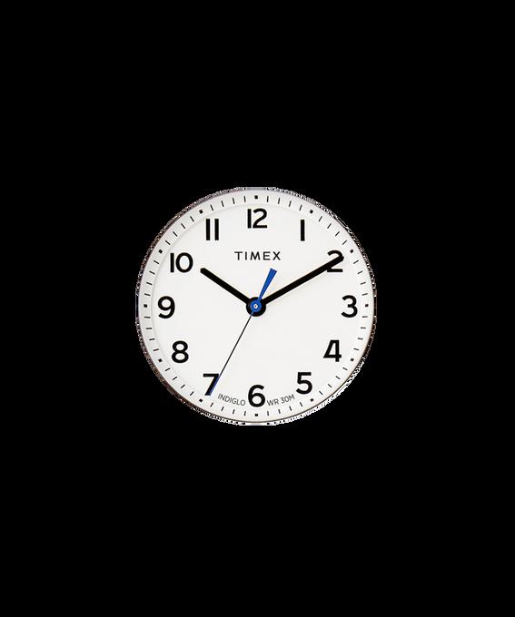 Weißes Ziffernblatt/blauer Sekundenzeiger  large