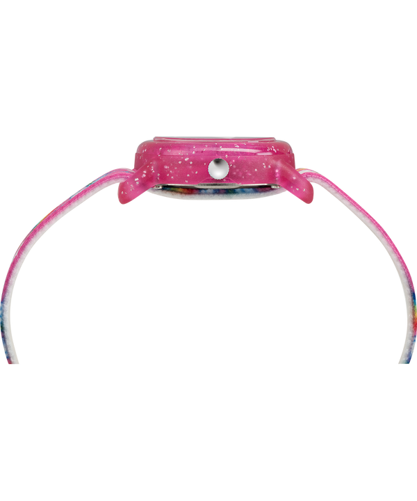 Kids Analog mit elastischem Textilarmband, 28mm Pink/White large
