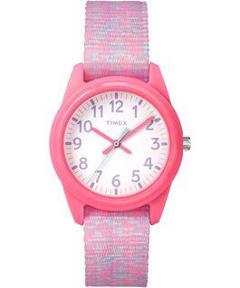 Kids Analog 32mm Digipattern Nylon Strap Watch Pink/White large