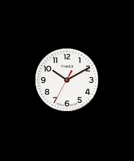 Weißes Ziffernblatt/roter Sekundenzeiger  large