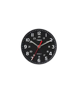 Schwarzes Ziffernblatt/roter Sekundenzeiger  large