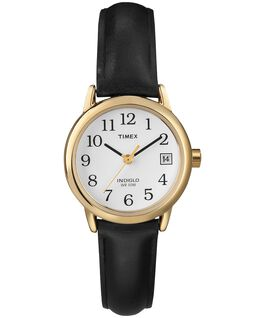 Easy Reader 25mm with Date Leather Watch Gold-Tone/Black/White large