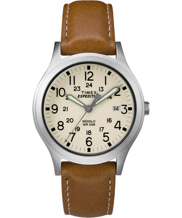 Expedition Scout Midsize 36mm Leather Watch  large